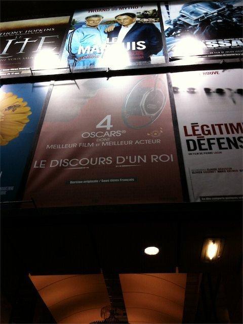 Mars 2011 : affiche sur les Champs Élysées