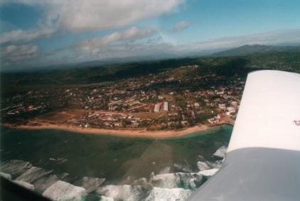 Vue aérienne de la ville d'Antalaha