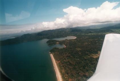 Vue aérienne des environs de Mananara