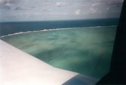 Vue aérienne de la mer du coté de Mananara