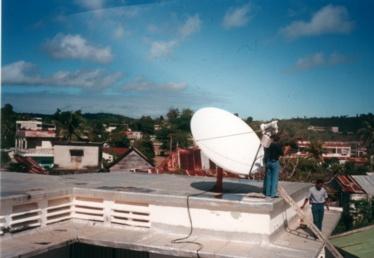 Une antenne VSAT