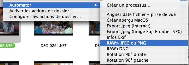 Menu contextuel sous MacOS X